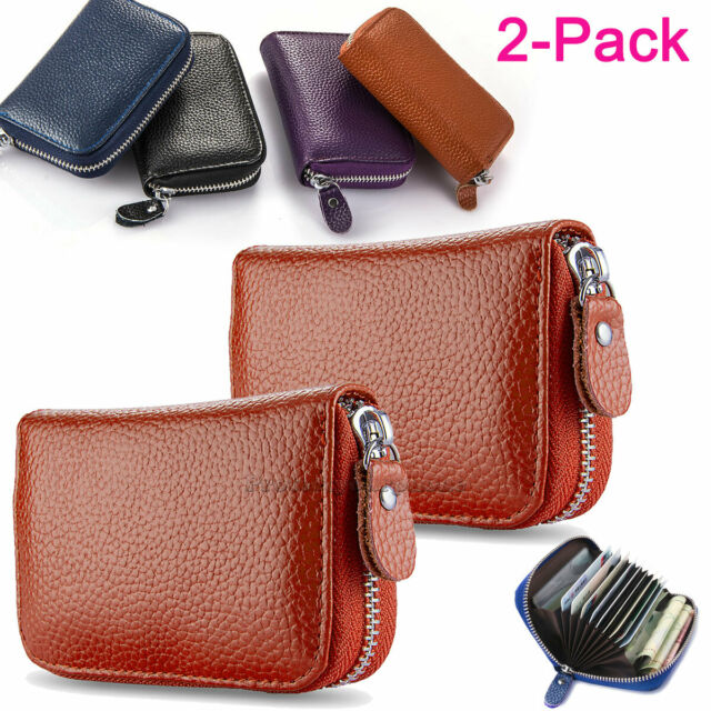Huztencor Zipper Wallet Men Leather RFID Blocking Wallets for Men with ID Card