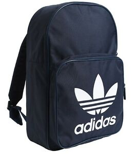 aa9c47f8c Image is loading Adidas-CLASSIC-TREFOIL-Backpack-Bags-Sports-Navy-School-