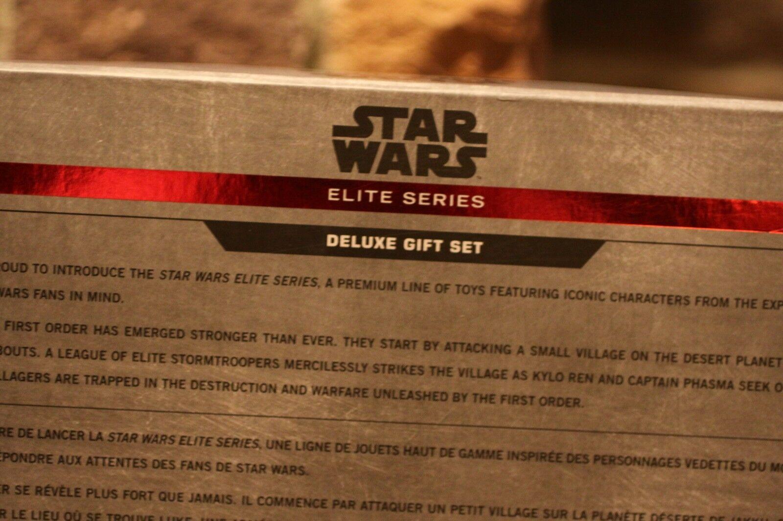 STAR WARS ELITE SERIES DELUXE DELUXE DELUXE GIFT SET DIE CAST ACTION FIGURE FINN KYLO REN HTF  9648f1