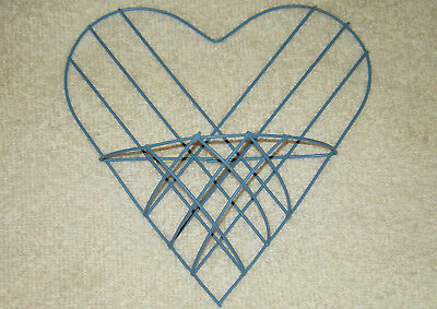 "2019 New Style Lot Of 12 Light Blue Hanging Wire Heart With Pocket Arts Crafts 7"" X 6.5"" New Other Home Arts & Crafts Crafts"