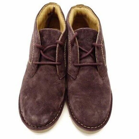 Clarks Artisan morado gamuza tobillo botas para mujer M-Usado En Excelente Condición