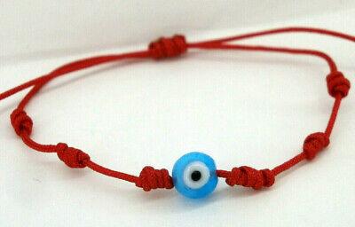 """Pulsera  /""""Abril/""""  charm ojo turco colgante y cordón negro"""