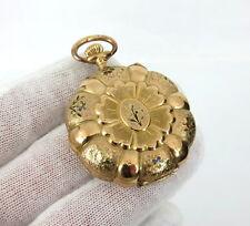 Rare Henry 14K Fancy Hunters Exhibition Prize Medal Winner Enamel Pocket Watch