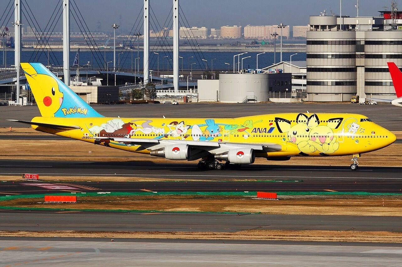 JC2154 1/200 1/200 1/200 All Nippon Airways Boeing 747-400D JA8957 PIKACHU Jumbo avec support | Luxuriante Dans La Conception