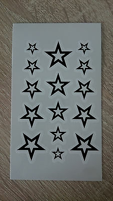 10x6cm Sheet High Quality Supreme Fake Tattoo Stars Waterproof Temporary Art