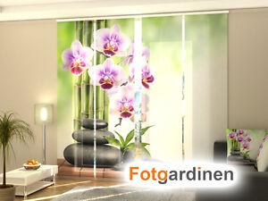 Fotogardine Orchidee auf Maß Flächenvorhang Schiebegardine bedruckt mit Motiv