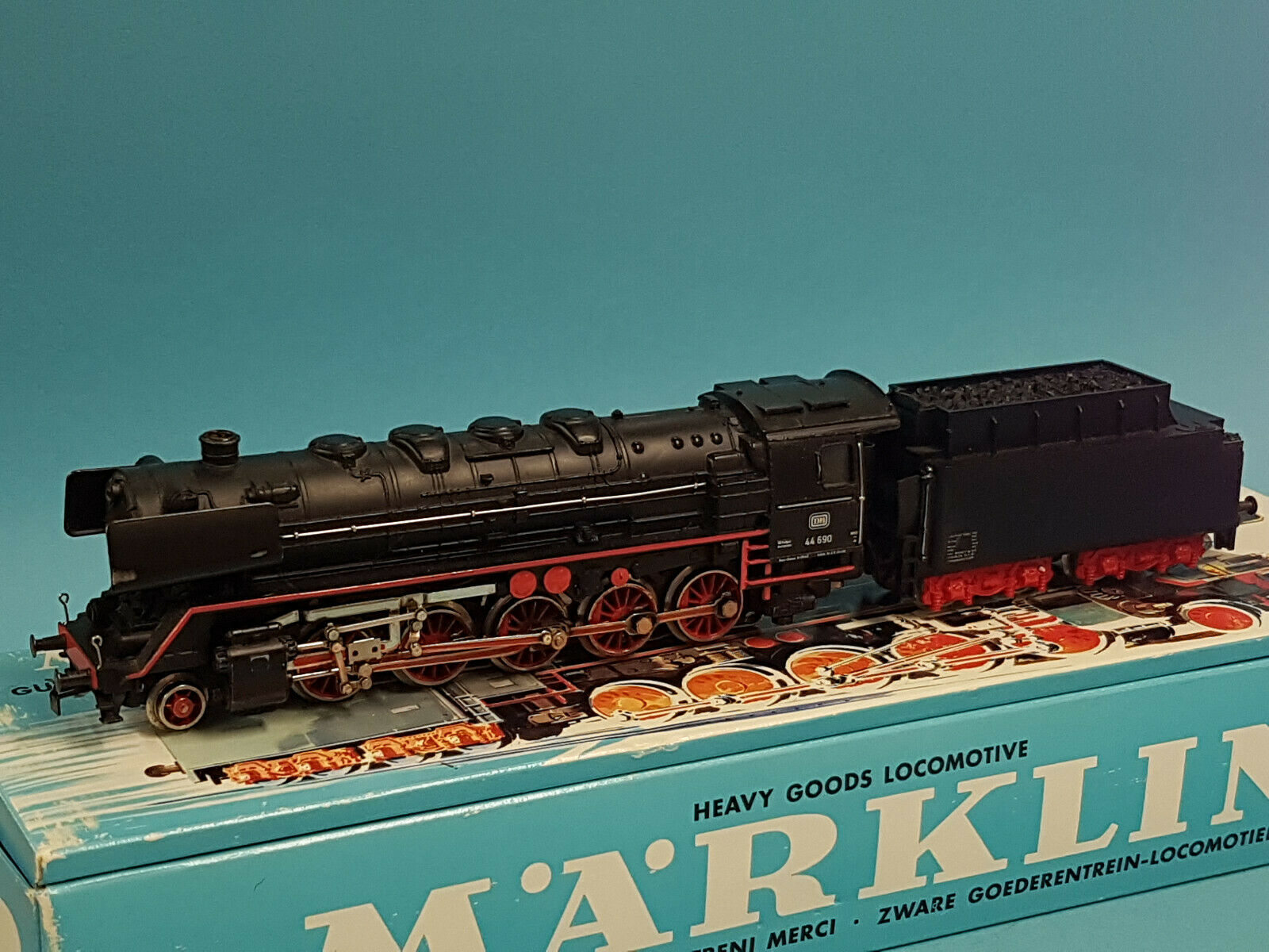 Märklin 3047 locomotiva BR 44 690 DB + telex FRIZIONE + FUMO TOP + OVP