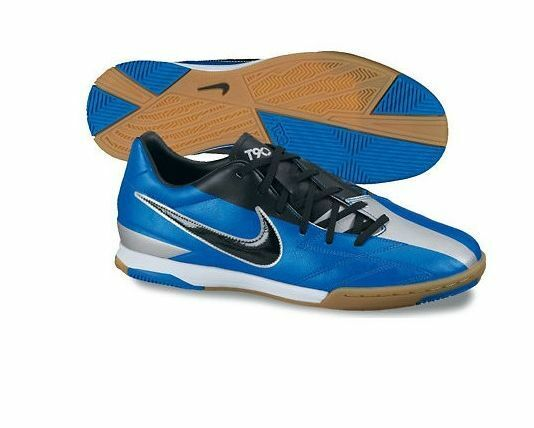 3ab15c1b7 Nike Total 90 Shoot IV IC Indoor 2012 Soccer Shoes New Blue - Black - Silver
