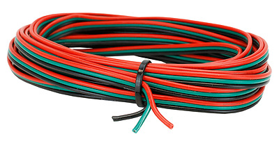 2KCB651-5m Roll Triple Cased 16//0.2mm Stranded Point Motor Wire Red//Green//Blue