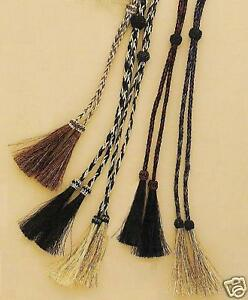 Horsehair ~STAMPEDE STRING~ Western Cowboy Hat Chin Strap Cotter Pin 02962