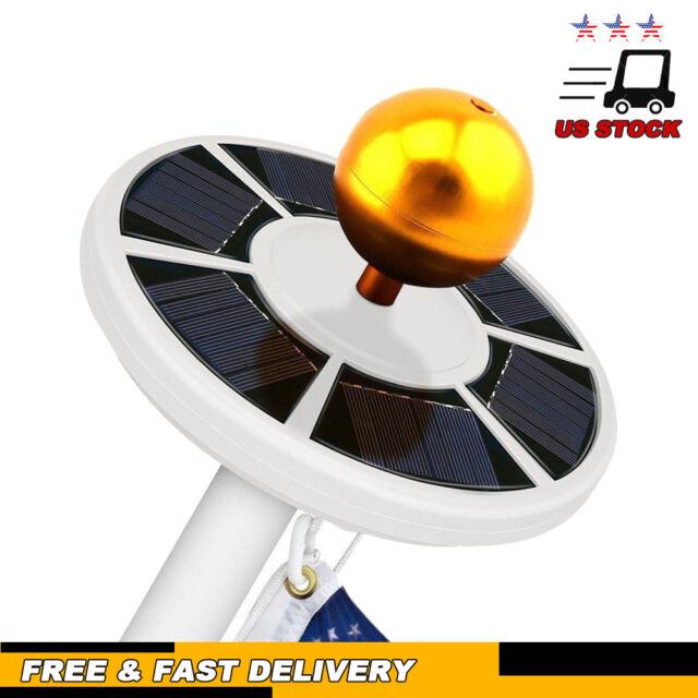 42LED Solar Power Bright Flag Pole Light Spot Waterproof Auto Camping Lamp