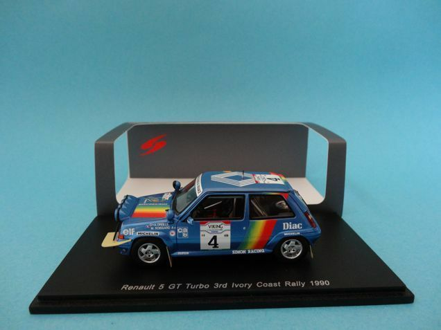 RENAULT 5 GT TURBO  4 - OREILLE - RALLY COTE IVOIRE 1990 - 1 43 NEW SPARK S3860