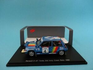 RENAULT-5-GT-TURBO-4-OREILLE-RALLY-COTE-IVOIRE-1990-1-43-NEW-SPARK-S3860