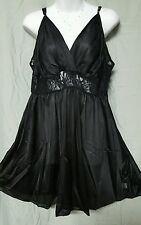 AMOUREUSE SEXY BLACK KNEE LENTGH  NIGHTGOWN WOMEN  SIZE LARGE GIFT