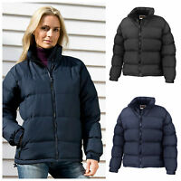 New RESULT Womens Ladies Holkham Down Feel Puffer Jacket in Black