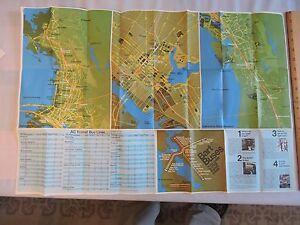 Rare 1973 Bay Area San Francisco Transit Subway Map California Oakland