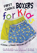 Boxers for Kids Sewing Pattern Child Sizes 2 to 12 Included Fat Quarter Friendly