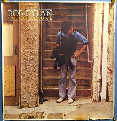 "BOB DYLAN street legal 44"" X 42"" CBS USA 1978 Promo Store Used Poster 35453"