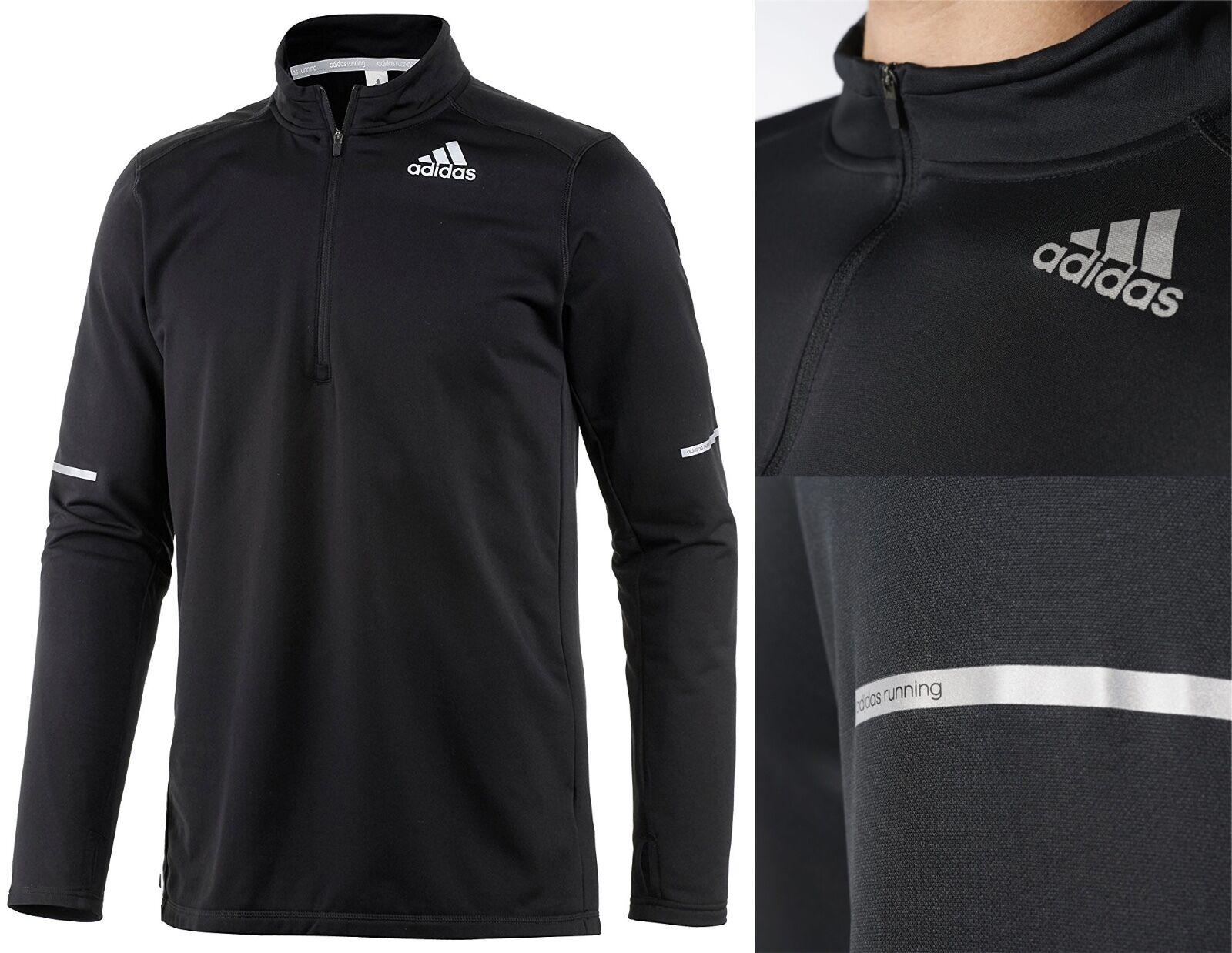Adidas Running Sequencials 1 4 Zip Clima Cool Long Sleeve Shirt RRP S M L XL
