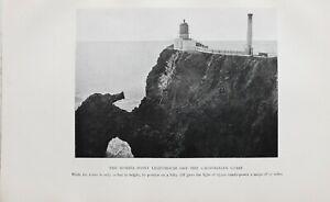 1913 Leuchtturm Aufdruck Bonita Point Leuchtturm Ab Der Californian Coast