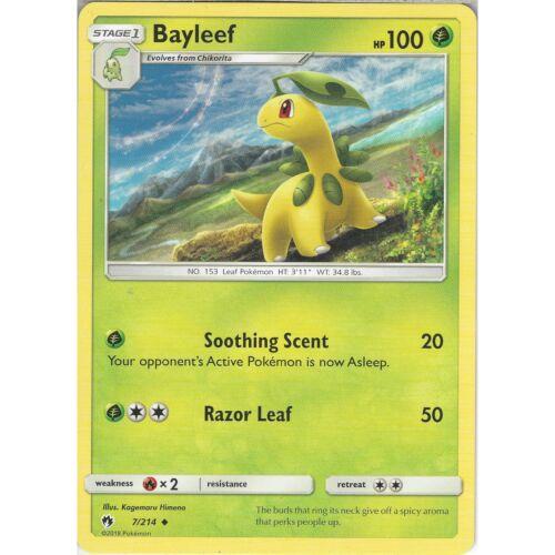 7//214 Pokemon TCG: Bayleef Sun /& Moon Lost Thunder SM8 Uncommon Card