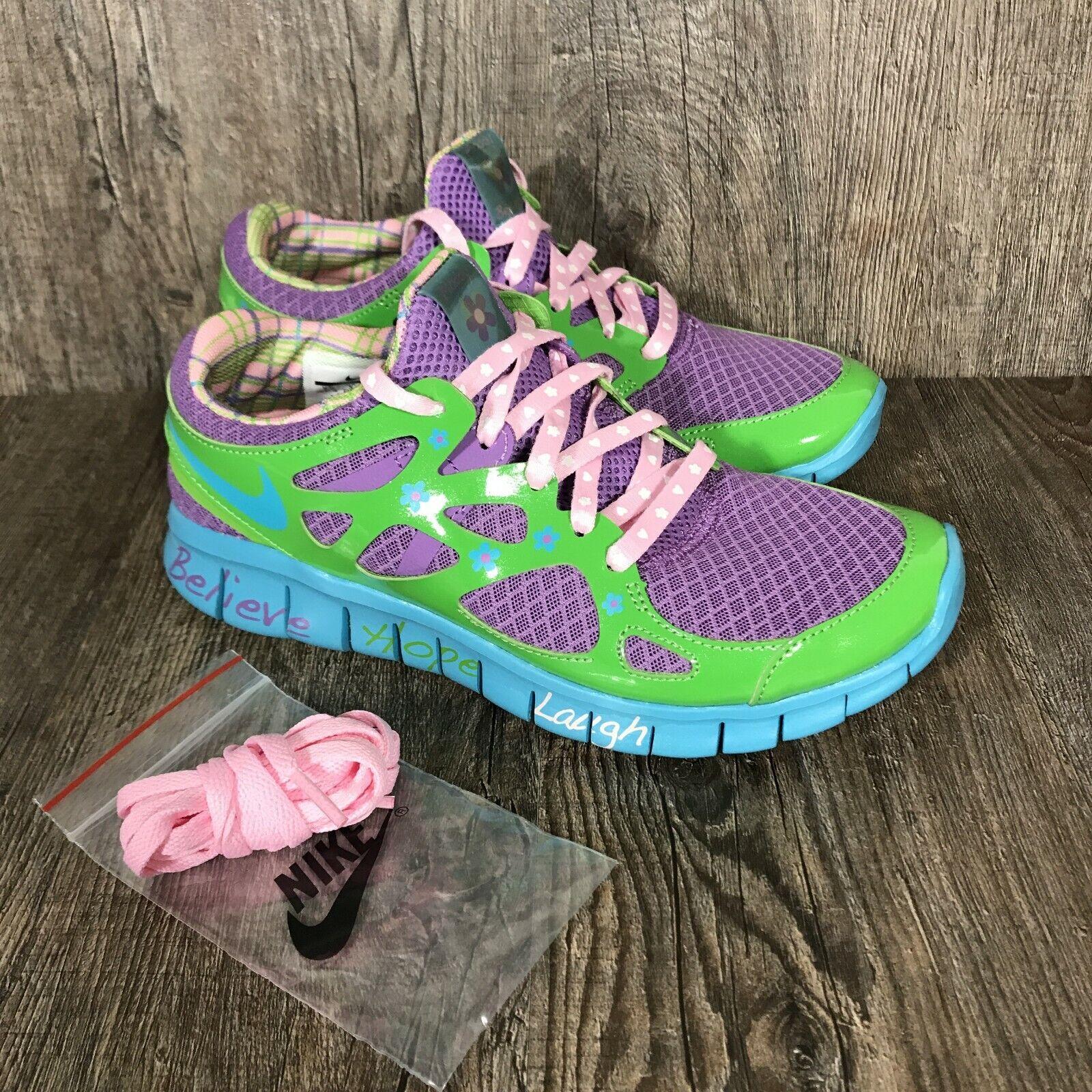 Nike Free Run+ 2 DB Doernbecher Size US Women's 7.5 437527-543 Trainer Green