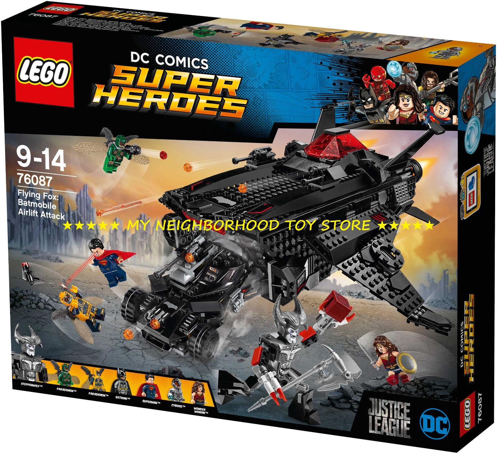PR. CONS. - LEGO 76087 DC COMICS VOLPE VOLANTE ATTACCO PONTE AEREO CON BATMOBILE