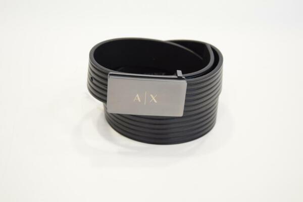 Armani Exchange Cintura Uomo In Pelle Con Fibbia A Cassetta 951160 Morbido E Antislipore