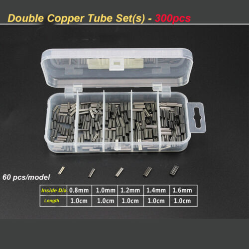 Line Crimping Sleeves Fishing Wire Tube set Crimp Sleeve single//Double Copper