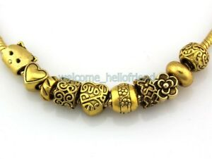 Antique Gold Tone Bulk Lots Mix Beads