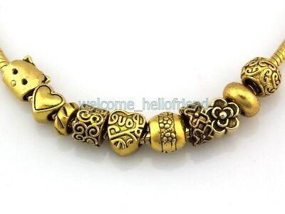 Wholesale 50pcs antique gold tone Mix Dangle Charms pour bracelet FreeShip JH01