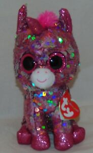 "HOT NEW TOY! TY FLIPPABLES SPARKLE Unicorn Changing Sequins 6"" HTF"