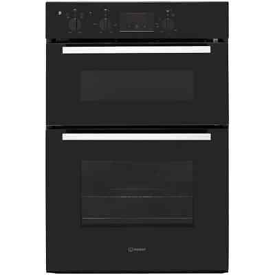 Indesit IDD6340BL Aria Built In 60cm Electric Double Oven Black New
