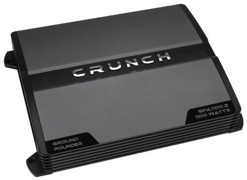 Crunch Ground Pounder GPA1100.2 Car Amplifier - 1100 W PMPO - 2 Channel - Class
