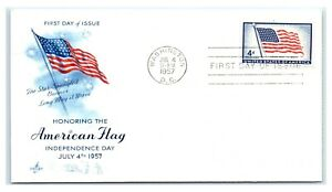 FDC-1957-4c-1094-American-Flag-Independence-Day-Washington-DC-A3