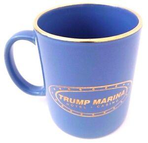 Trump-Marina-Hotel-Casino-22-KARAT-By-Culver-Gold-Mug-NEW