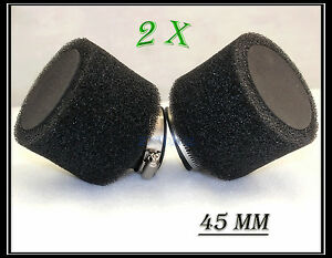 2x-45mm-Dual-Foam-Pod-Air-Filter-Cleaner-Dirt-Pit-Quad-ATV-Bike-Buggy-Go-Kart