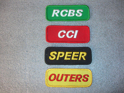 Collectible Black SPEER Green RCBS Yellow OUTERS Red CCI Set of 4 Patch lot