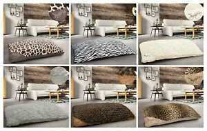 Small-Large-Multi-Purpose-Floor-Cushion-Anti-Slip-Back-Animal-Print-Pet-Bed-Cosy