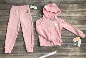 717d4f140c Details about Juicy Couture Girls Velour Set Jacket Pants Pink Tracksuit  Sweatsuit Size 4