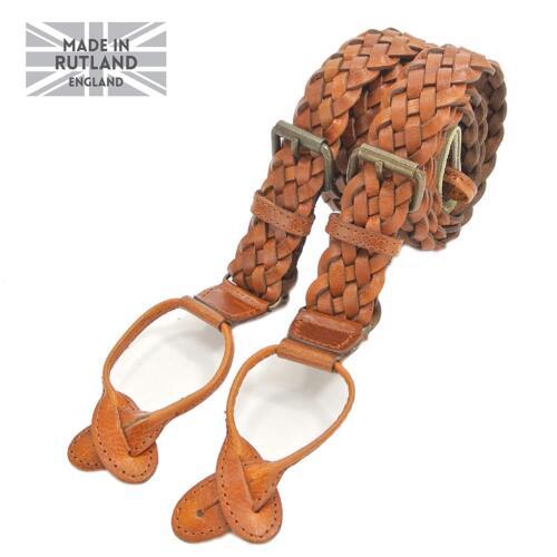 Nickel Clips Adjustable Sizing Turner 100/% Genuine Leather Trim Braces