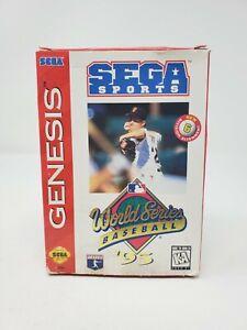 World Series Baseball '95 (Sega Genesis) - CIB Complete Cardboard