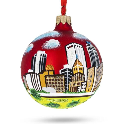 Tulsa Oklahoma Glass Christmas Ornament