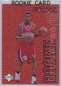 ALLEN IVERSON 1996/97 ROOKIE CARD Upper Deck Exclusives ...
