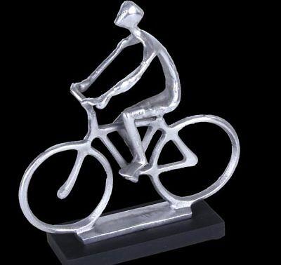 DekoArt Kunst Skulptur Radfahrer bronce antik H 31m x B 25cm Dekorobjekt Fahrrad