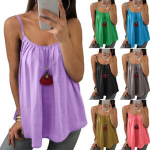 Woman-Tank-Top-Chiffon-Blouse-Spaghetti-Strap-Sleeveless-Swing-Cami-Vest-Shirts