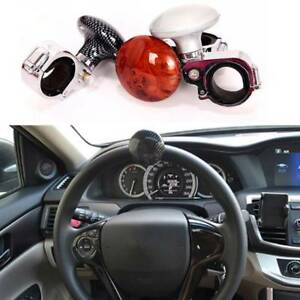 Electric Vehicle Parts Brown Car Power Steering Wheel Ball Suicide Spinner Handle Knob Booster Great