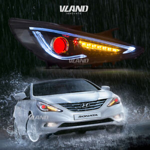 Image Is Loading Led Headlights For 2017 Hyundai Sonata 8