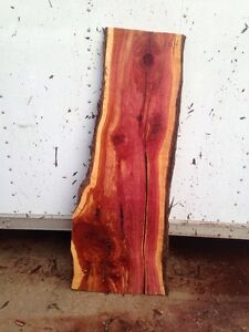 "#164"" Slab 1 1/8"" Thick 51"" Long 13 1/2""To 19 1/2"" Wide Live Edge Red Cedar Slab"
