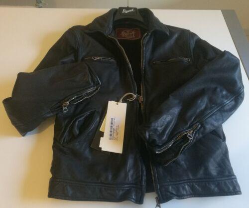 Pelle Old New Stewart Giubbino Derby Black Glory Slim Leather M Jacket Giaccone XZPkOuTi